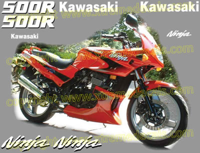 Kawasaki Ninja 500 R Decal set 1999 Model