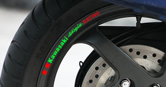 Kawasaki Ninja Racing Rim Decal set