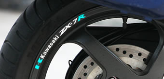 Kawasaki ZX-7R Rim Decal set