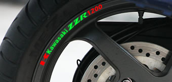 Kawasaki ZZR 1200 Rim Decal set